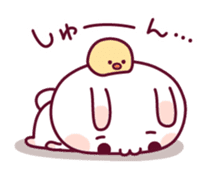 Sweet nothings of a rabbit and the chick sticker #8612604