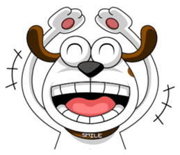 Smiling Dog V.2 / English Version sticker #8619031