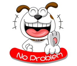 Smiling Dog V.2 / English Version sticker #8619032