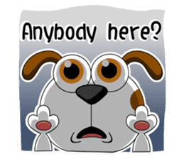 Smiling Dog V.2 / English Version sticker #8619035