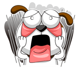 Smiling Dog V.2 / English Version sticker #8619046