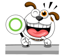 Smiling Dog V.2 / English Version sticker #8619049
