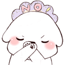 Funny Bichon sticker #8620976