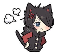 BLACK KITTEN 7 sticker #8621473