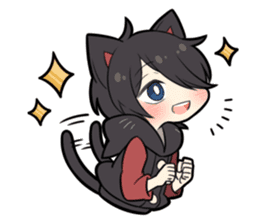 BLACK KITTEN 7 sticker #8621476