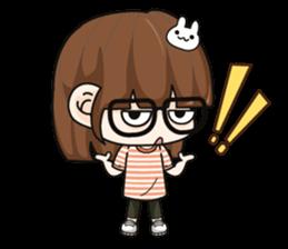 Grumbling girl (EN) sticker #8625864