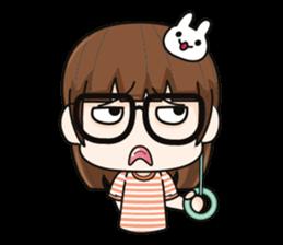 Grumbling girl (EN) sticker #8625868