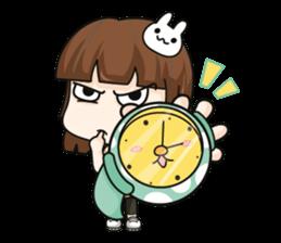 Grumbling girl (EN) sticker #8625869
