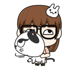 Grumbling girl (EN) sticker #8625872