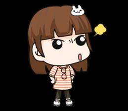 Grumbling girl (EN) sticker #8625879