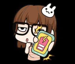 Grumbling girl (EN) sticker #8625885
