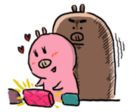PONPONG the pig and her friends sticker #8631809