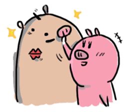 PONPONG the pig and her friends sticker #8631816