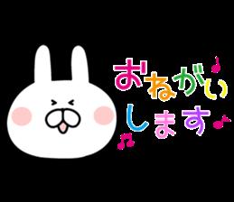 Message of rabbit new sticker #8655151