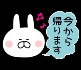 Message of rabbit new sticker #8655167