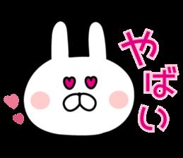 Message of rabbit new sticker #8655175