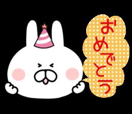 Message of rabbit new sticker #8655179