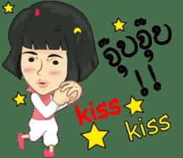 Cartoon Isan LoveV.Isan Eng language sticker #8656105