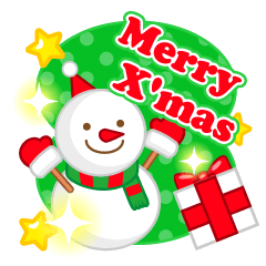 X'mas stickers -English-