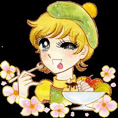 Hoshipoem girl cartoon Sticker2