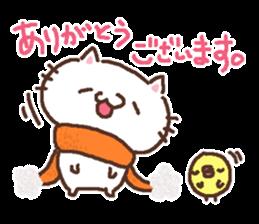Greeting winter cat sticker #8672552