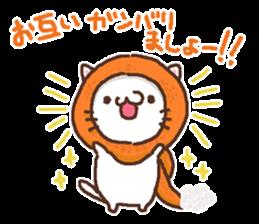 Greeting winter cat sticker #8672553