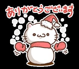 Greeting winter cat sticker #8672556