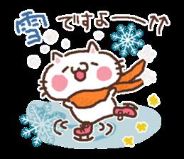 Greeting winter cat sticker #8672564