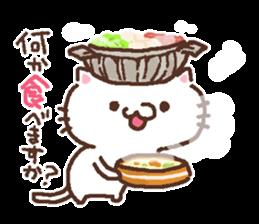 Greeting winter cat sticker #8672567