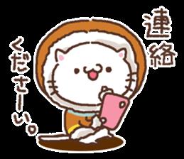 Greeting winter cat sticker #8672571