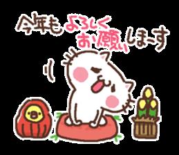 Greeting winter cat sticker #8672580