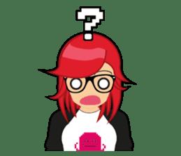 Sakura the Gamer Girl sticker #8686583