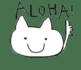 Hawaii neko(cat) sticker #8692122
