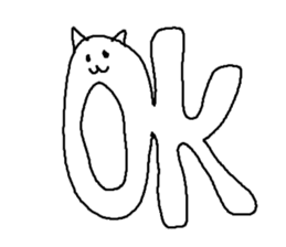 Hawaii neko(cat) sticker #8692147