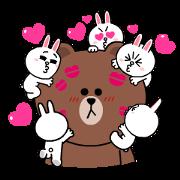 สติ๊กเกอร์ไลน์ Brown & Cony's Heart-Throbbing Love