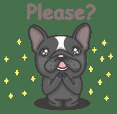 Raven the French Bulldog sticker #8695935