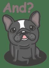 Raven the French Bulldog sticker #8695951