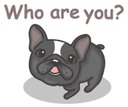 Raven the French Bulldog sticker #8695957