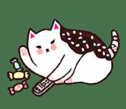 Candy cat & Little waffle sticker #8696013
