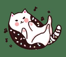 Candy cat & Little waffle sticker #8696017