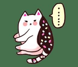 Candy cat & Little waffle sticker #8696019