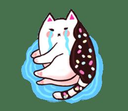 Candy cat & Little waffle sticker #8696021