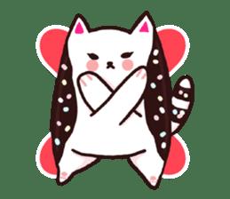 Candy cat & Little waffle sticker #8696023