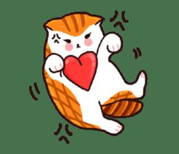 Candy cat & Little waffle sticker #8696035