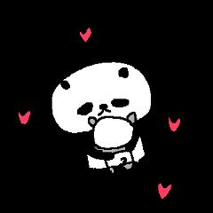English Panda love stickers