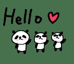 English Panda love stickers sticker #8701004