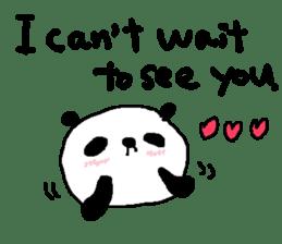 English Panda love stickers sticker #8701006