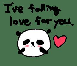 English Panda love stickers sticker #8701009
