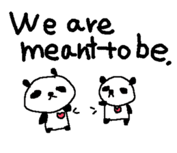 English Panda love stickers sticker #8701012