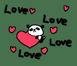 English Panda love stickers sticker #8701023